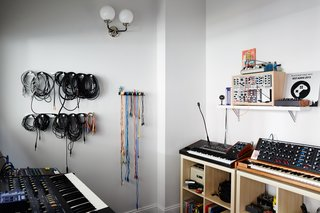 A fully insulated, soundproof room gives the musicians free reign to produce and record.