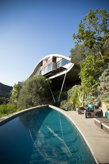 Tackling Big Design Questions in an Iconic Home - Photo 1 of 9 - A mainstay of Southern Californian living, a pool had been included in Lautner's original plans, but it wasn't until homeowner Mcllwee and architect Radziner came along that it was actually realized.