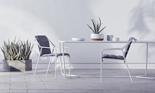 """The Dwell x Target Lookbook Reveals a Sleek New Collection for the Modern Home - Photo 6 of 9 - Citing the """"execution and scope"""" of the outdoor seating collection, Dine names these pieces among his favorites. """"I think that the guest will find them amazingly comfortable."""""""