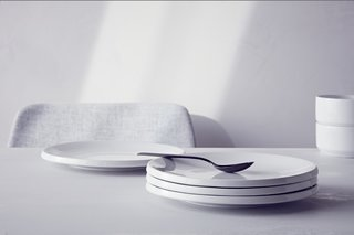 The Wait Is Over: Modern by Dwell Magazine Arrives at Target - Photo 9 of 9 - The Stoneware Glazed Plate ($39.99 for a set of four) has a lip that makes it seem to hover above the table.