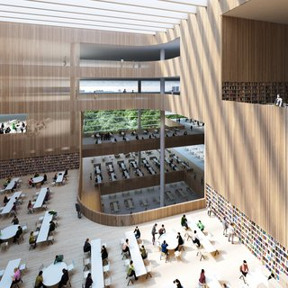 The Shanghai Library will also house the Shanghai Institute of Scientific and Technological Information.