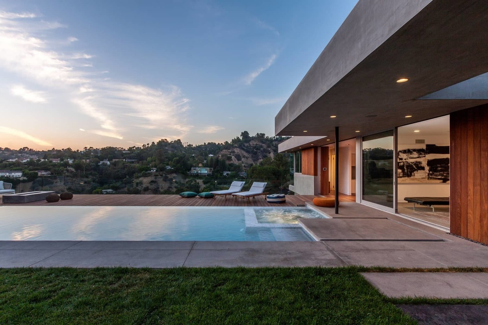Ann Sacks pool tile contributes to the many amenities on site.  Photo 10 of 10 in A Celeb-Worthy Home in Beverly Hills Asks $6.75M