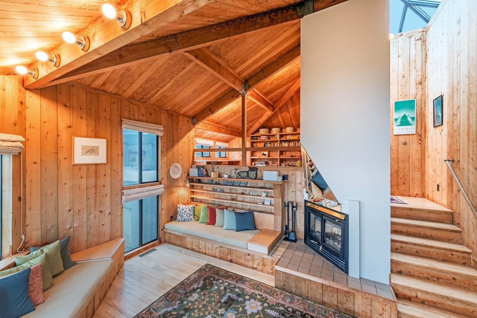 A favorite view of Owings' is looking up while lying on the living room rug.  Photo 4 of 12 in Settle in the Celebrated Sea Ranch For Under $2.9M