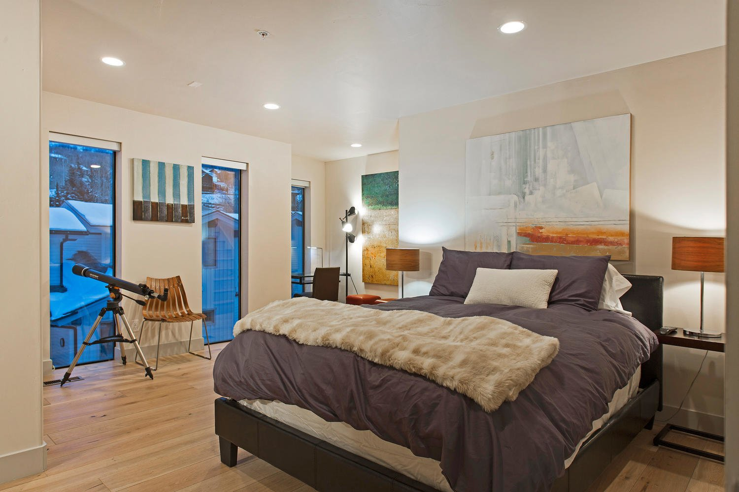 The second level holds three bedrooms and two bathrooms.  Photo 7 of 9 in Be at Home With Park City's Slopes For $1.6M