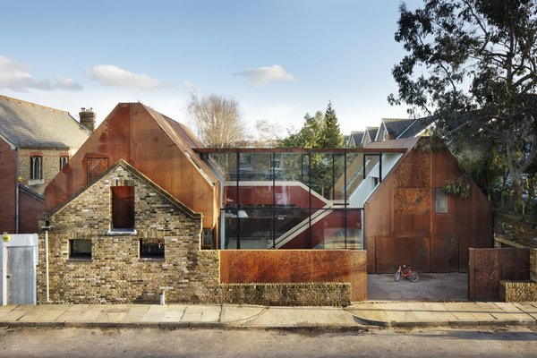 Weathered Steel Clads a $4.7M Home Near London's Kew Gardens