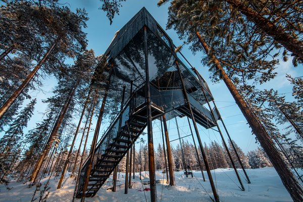Go Stargazing in Snøhetta's Towering Addition to Sweden's Treehotel