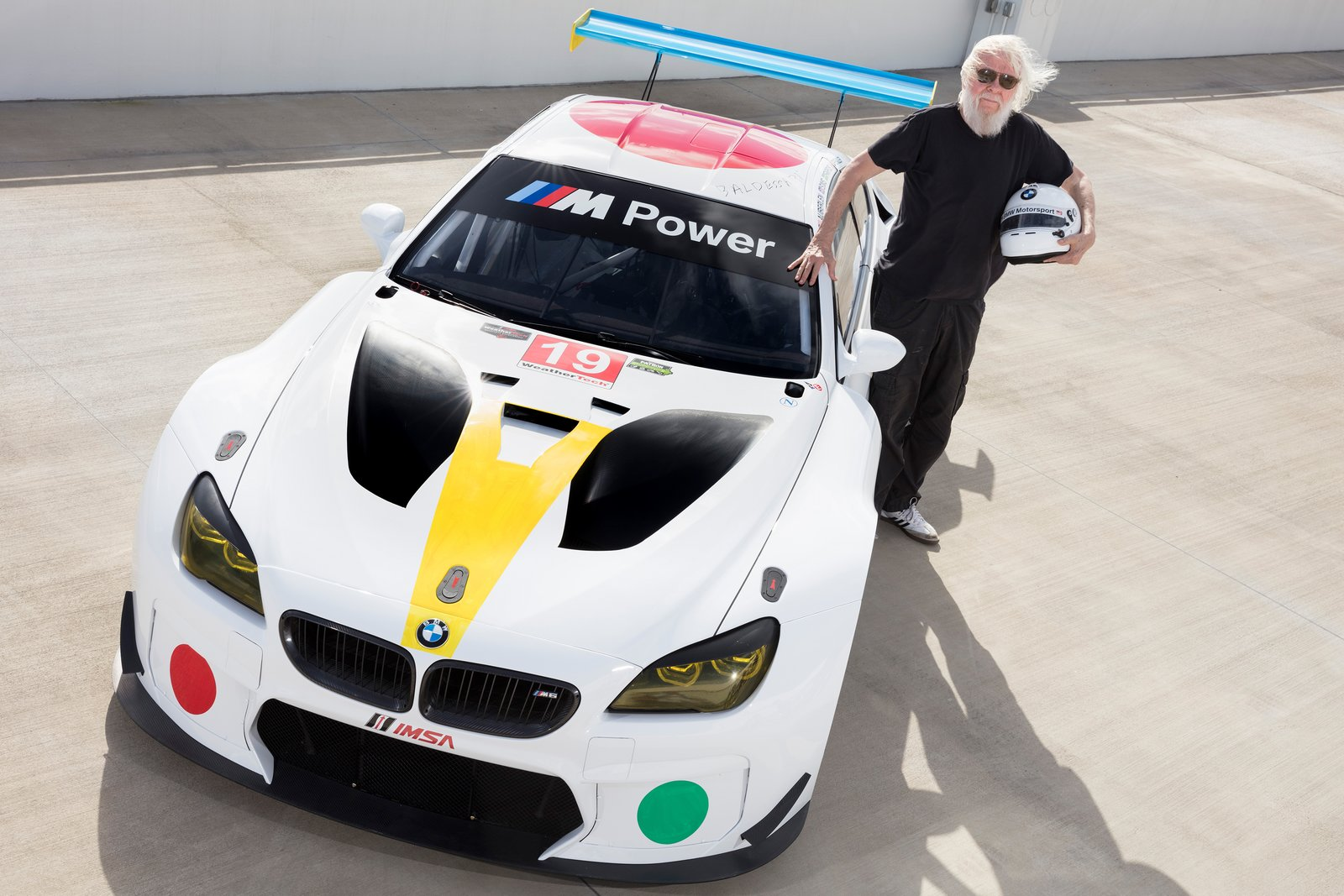 Photo 1 of 12 in John Baldessari Blazes a Trail at the Daytona International Speedway With BMW Art Car #19