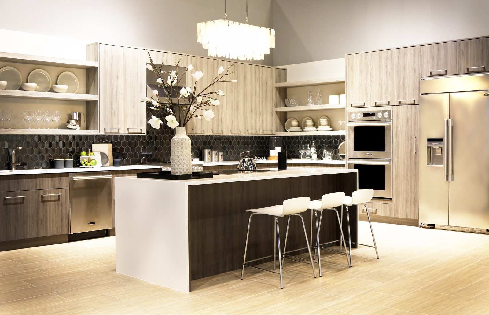 The Signature Kitchen Suite Baking Kitchen Features Maple Wood Cabinetry By  Green Forest Cabinetry, Porcelain