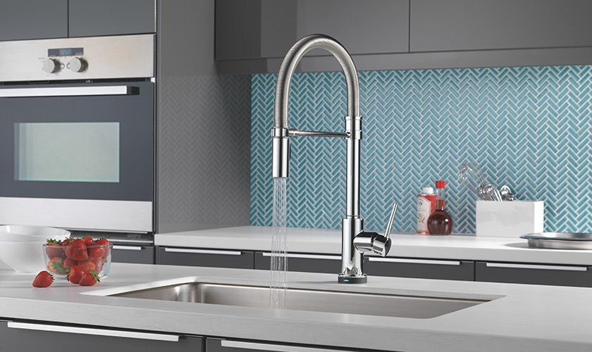 Photo 1 of 1 in Delta Faucet Trinsic® Pro Single-Handle Pull-Down Kitchen Faucet