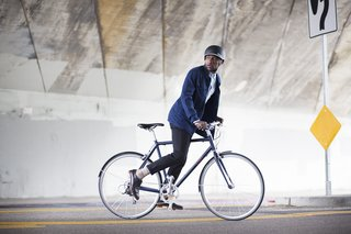 Safety first—the bike's Vittoria Randonneur tires feature a reflective sidewall that helps with visibility at night.