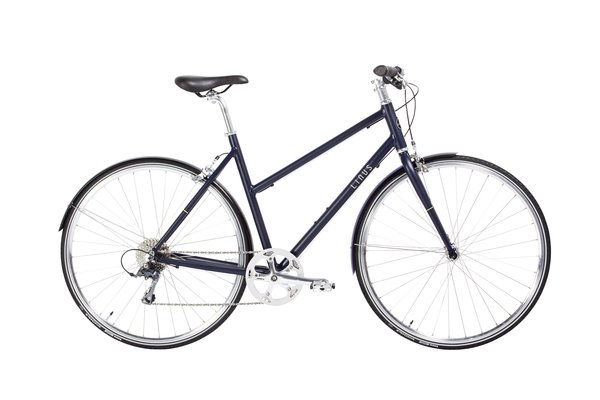 While the men's model pairs a matte indigo finish with orange-red accents, the women's model features brighter champagne pinstripes.  Photo 6 of 6 in Style, Speed, Substance: Reviewing Linus Bike's Newly Introduced Pronto