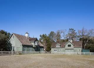 The lot originally housed the equestrian facilities of a larger, 10-acre estate. The stables, tack room, birthing shed, barn, and riding ring and turnouts still stand.