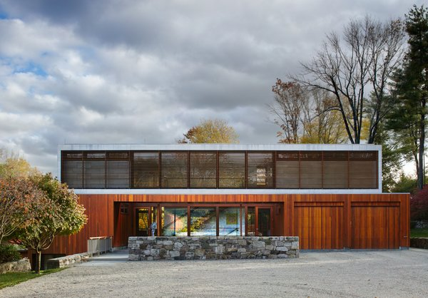 The 8,269-square-foot residence sits atop 2.8 acres landscaped by Reed Hilderbrand.