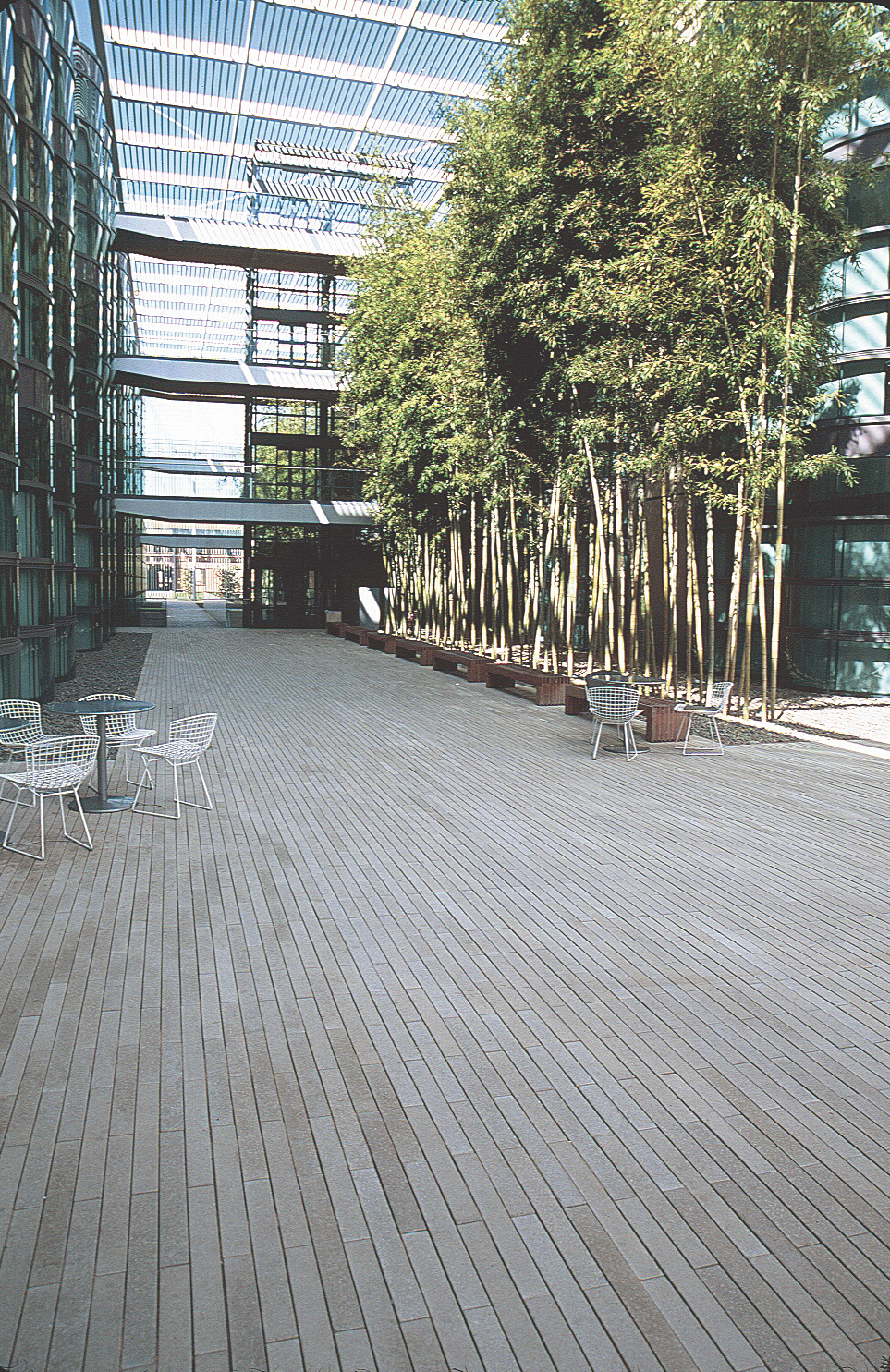 Stepstone developed the Narrow Modular Pavers with landscape architect Peter Walker, who requested them for the Stanford University campus. After adjusting the production process to accommodate the new shape, McWilliams was  Photo 4 of 8 in Drawing the Line: Concrete Pavers That Advance Architectural Design
