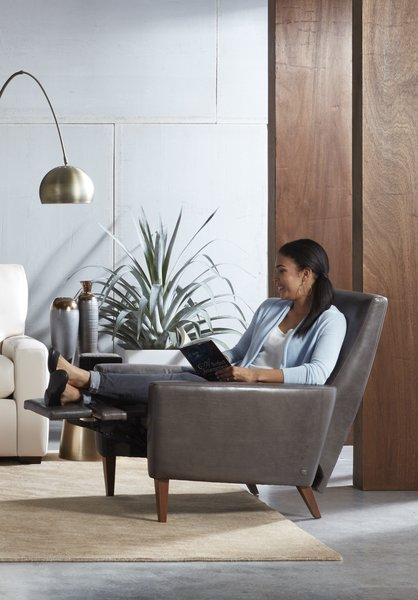 The Re-Invented Recliner™ is a fashion-forward piece that defines a space, breaking the stereotype of the traditional recliner. A perfect blend of form and function, it comes in seven styles—including the Vida, shown above—that appeal to design connoisseurs while delivering incredible comfort.