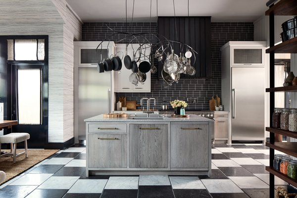 """House Beautiful's Kitchen of the Year, """"Mise En Place"""" by Jon De La Cruz, accommodates a busy family's lifestyle with a breakfast area, a baking area, and a scullery."""