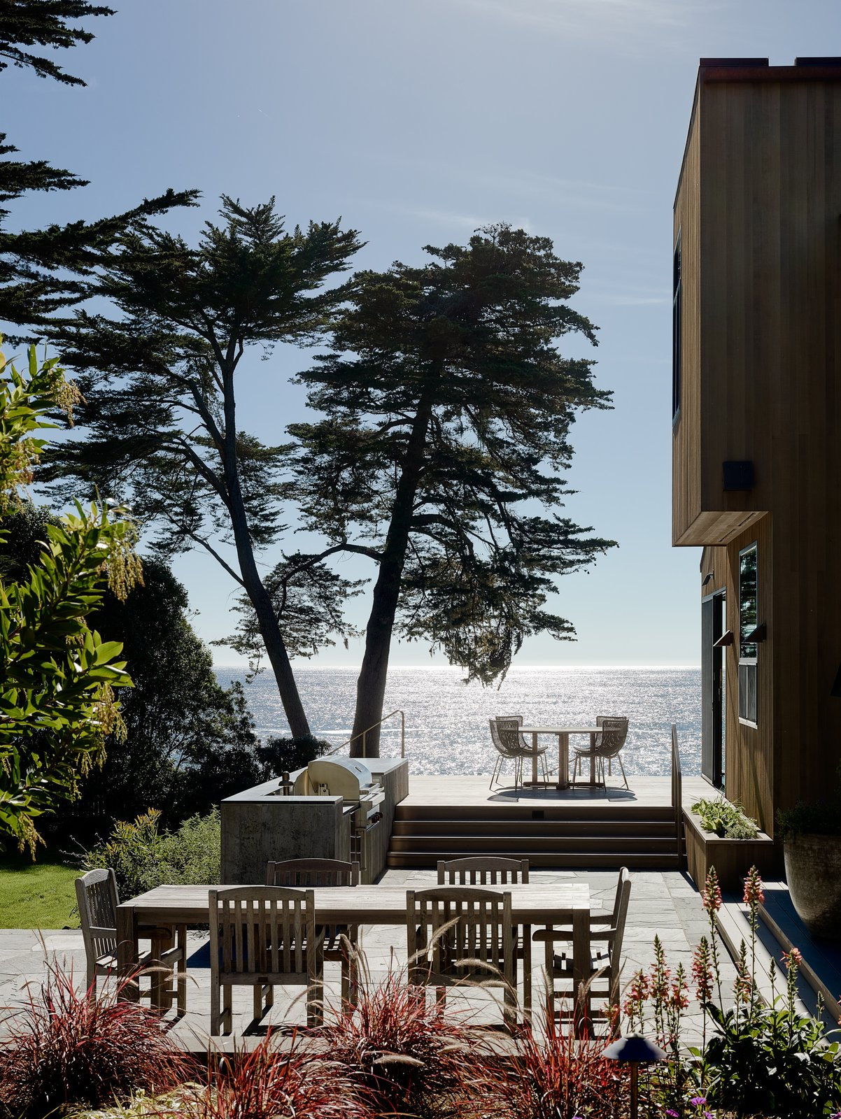 Outdoor and Large Patio, Porch, Deck  Photo 12 of 15 in This Renovated Sea Ranch Retreat Is an Absolute Must-See