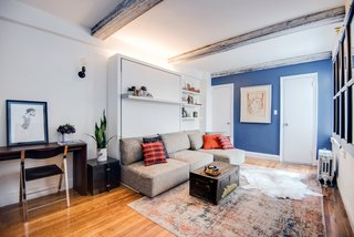 """""""The room is constantly changing,"""" says Kantor. """"The Swing allows me to have a sizeable living room and transform that into a sizeable bedroom."""""""