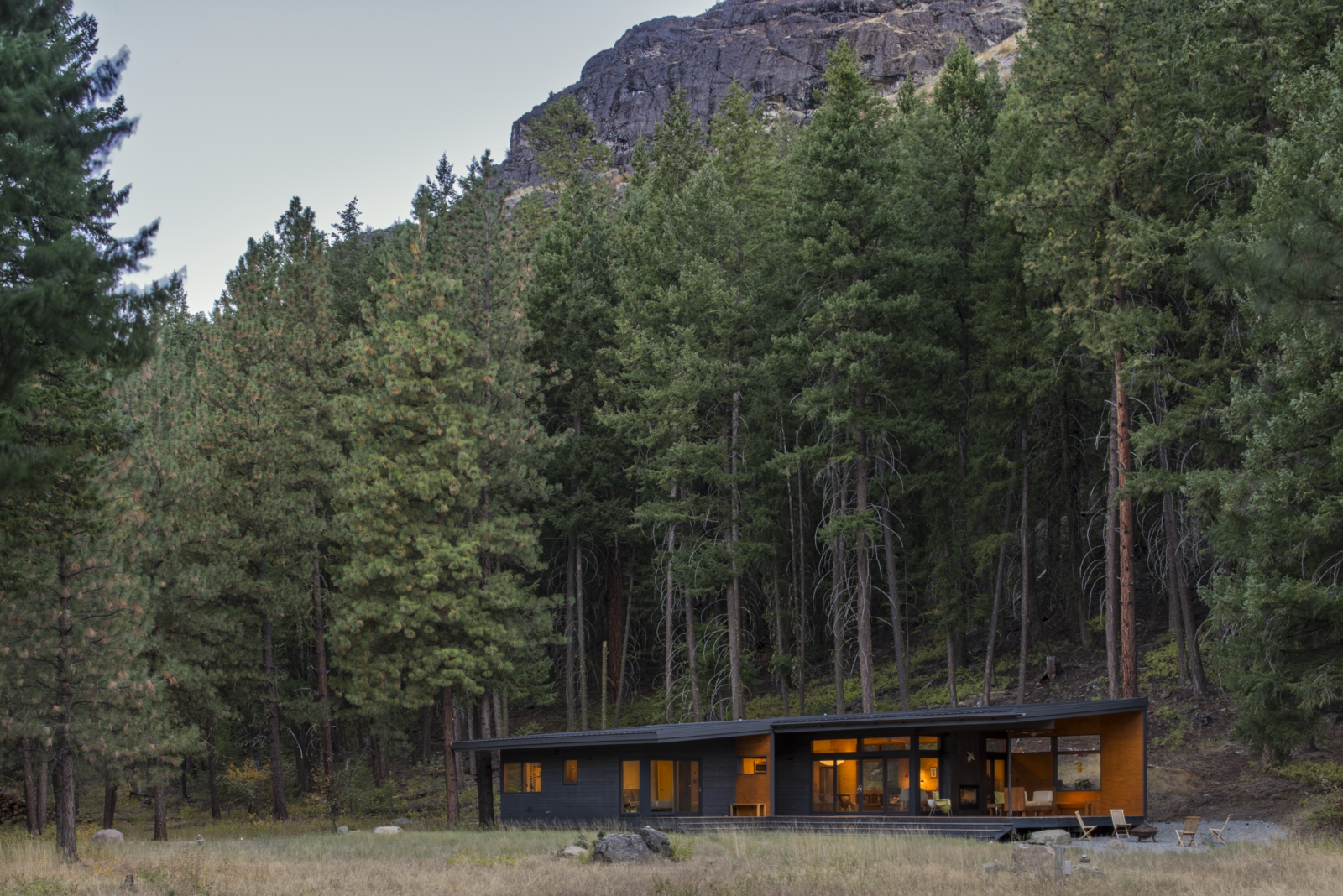 Photo 1 of 10 in A Lean Cabin in Washington Dismantles the Indoor/Outdoor Divide