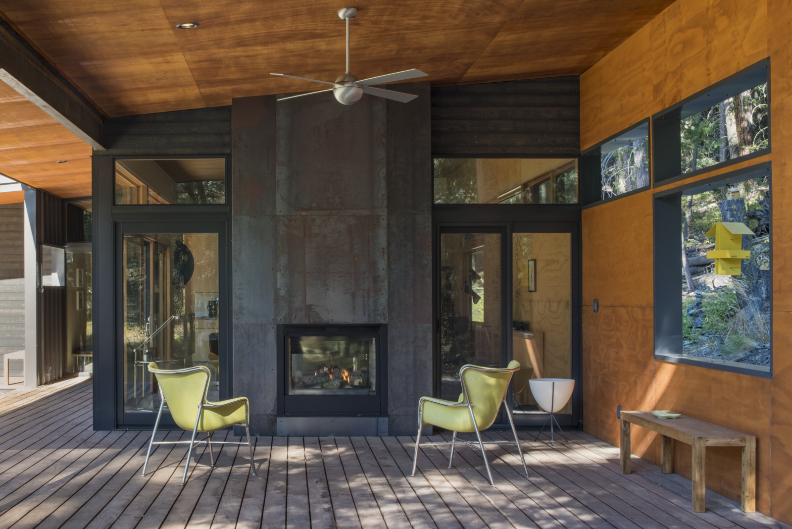 Photo 4 of 10 in A Lean Cabin in Washington Dismantles the Indoor/Outdoor Divide