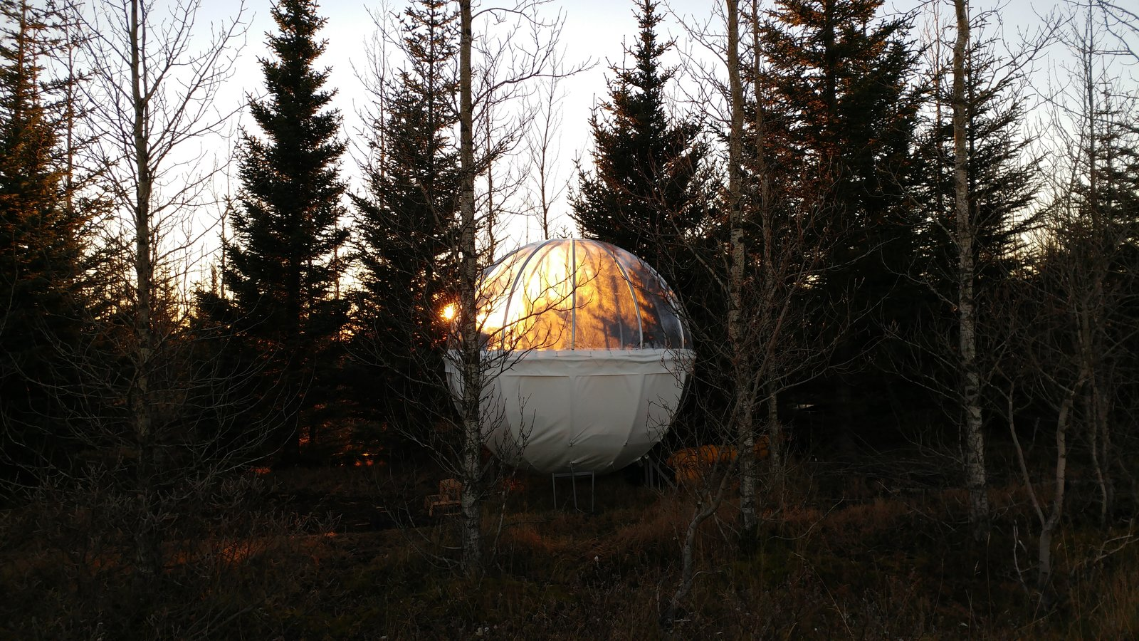Exterior, Cabin Building Type, Tent Building Type, and Dome RoofLine  Photo 3 of 6 in Sleep Under the Northern Lights in an Icelandic Bubble Hotel