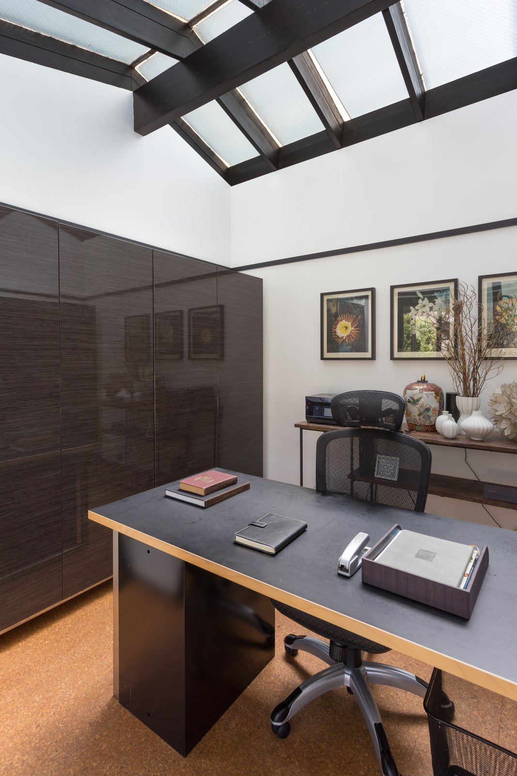 Office, Den Room Type, Chair, and Desk  Photo 10 of 14 in Offered at $899K, a Restored Midcentury Abode Shines in Southern California