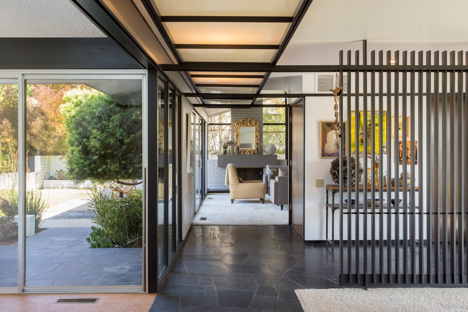 Hallway  Photo 3 of 14 in Offered at $899K, a Restored Midcentury Abode Shines in Southern California