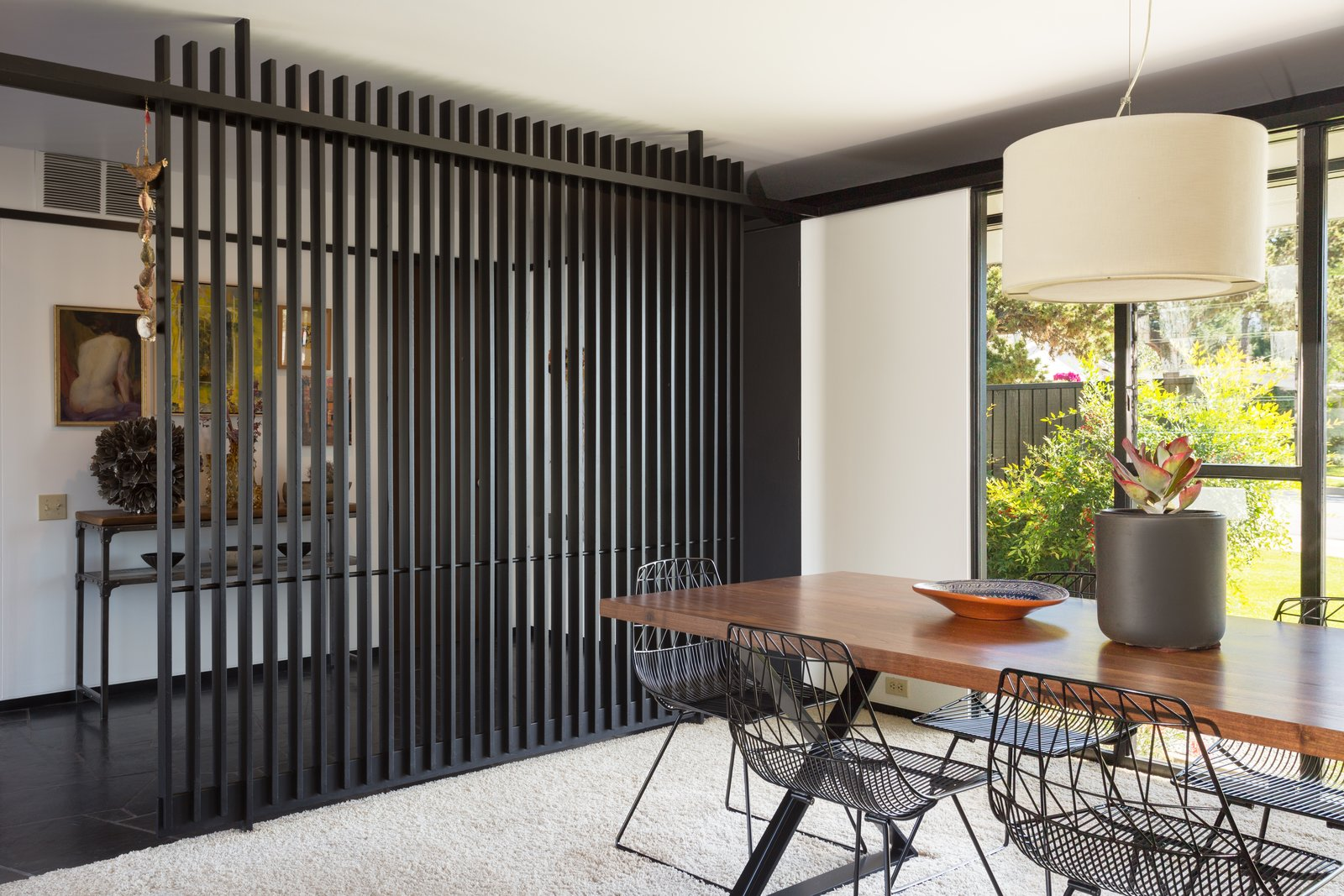 Tagged: Dining Room, Chair, Table, and Pendant Lighting.  Photo 4 of 14 in Offered at $899K, a Restored Midcentury Abode Shines in Southern California