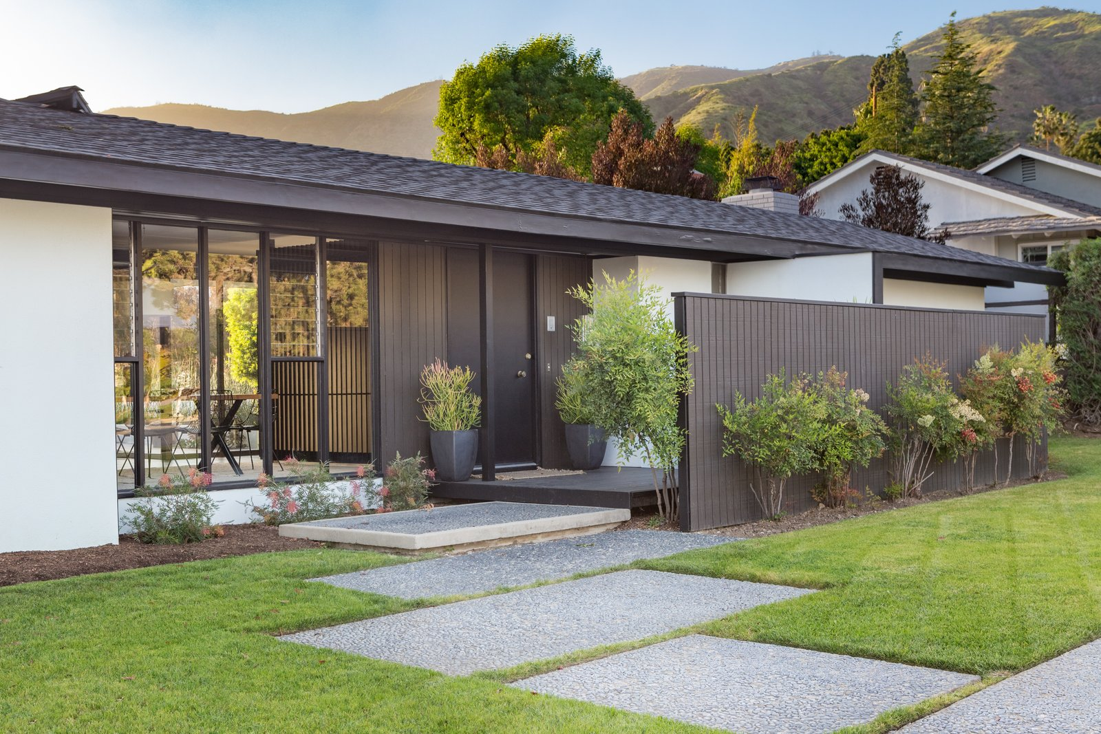 Exterior, House Building Type, Shed RoofLine, and Shingles Roof Material  Photo 11 of 14 in Offered at $899K, a Restored Midcentury Abode Shines in Southern California