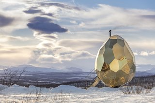 A Golden, Egg-Shaped Sauna Signifies the Rebirth of a Swedish Mining Town