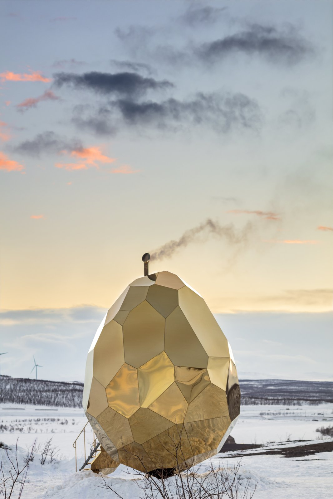 Photo 6 of 6 in A Golden, Egg-Shaped Sauna Signifies the Rebirth of a Swedish Mining Town
