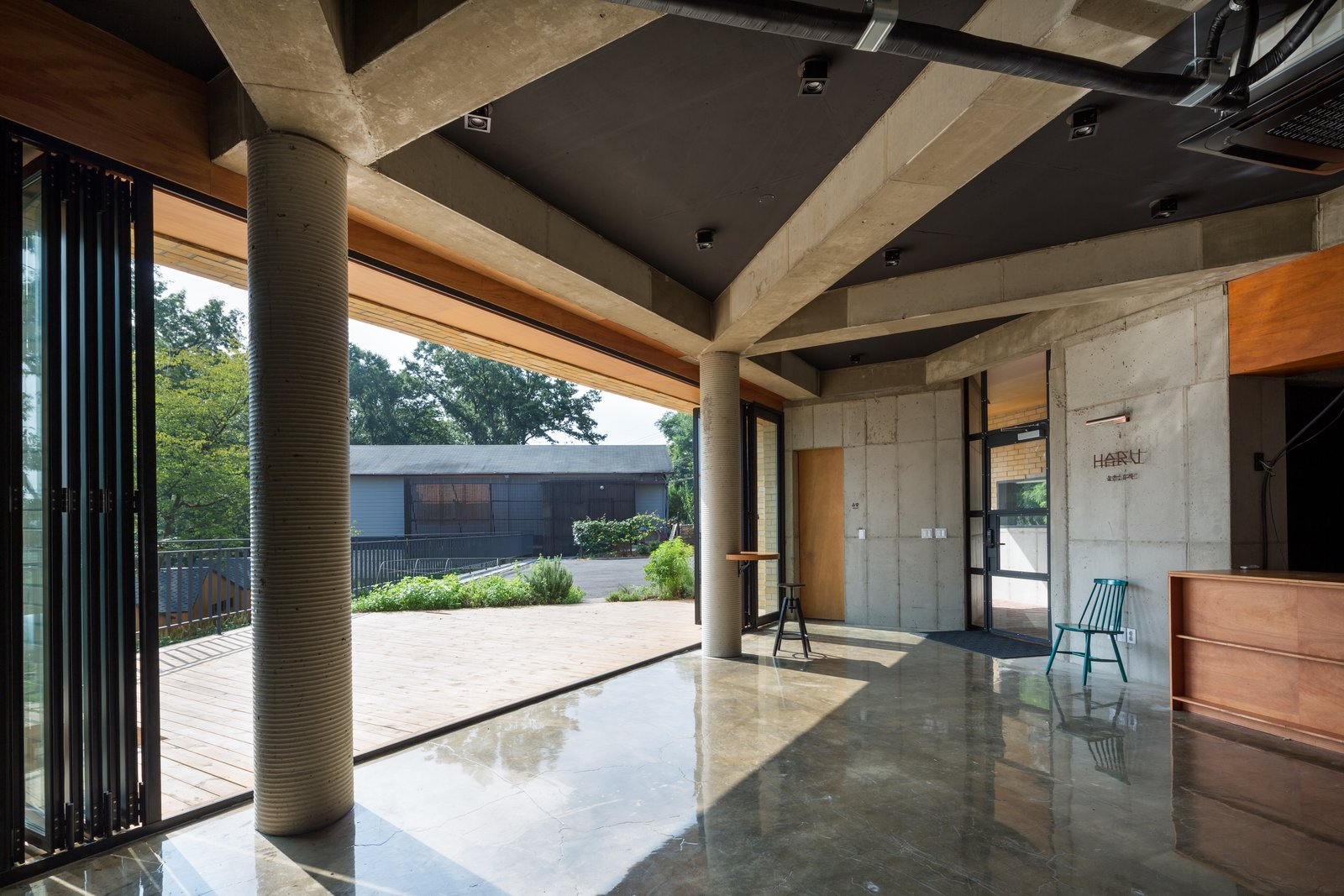 Doors, Metal, Exterior, and Folding Door Type  Photo 5 of 11 in A Camping Village in South Korea Draws Inspiration From an Iconic Fairy Tale