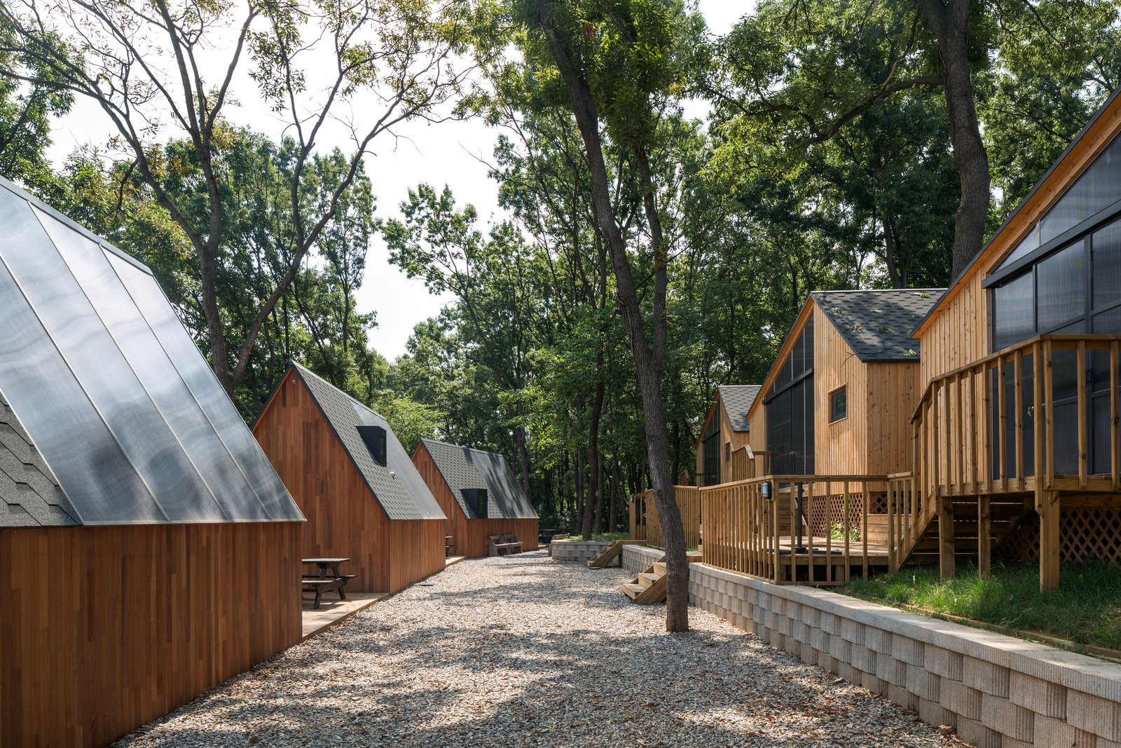 Exterior, Cabin Building Type, Shed Building Type, Gable RoofLine, and Wood Siding Material  Photo 7 of 11 in A Camping Village in South Korea Draws Inspiration From an Iconic Fairy Tale