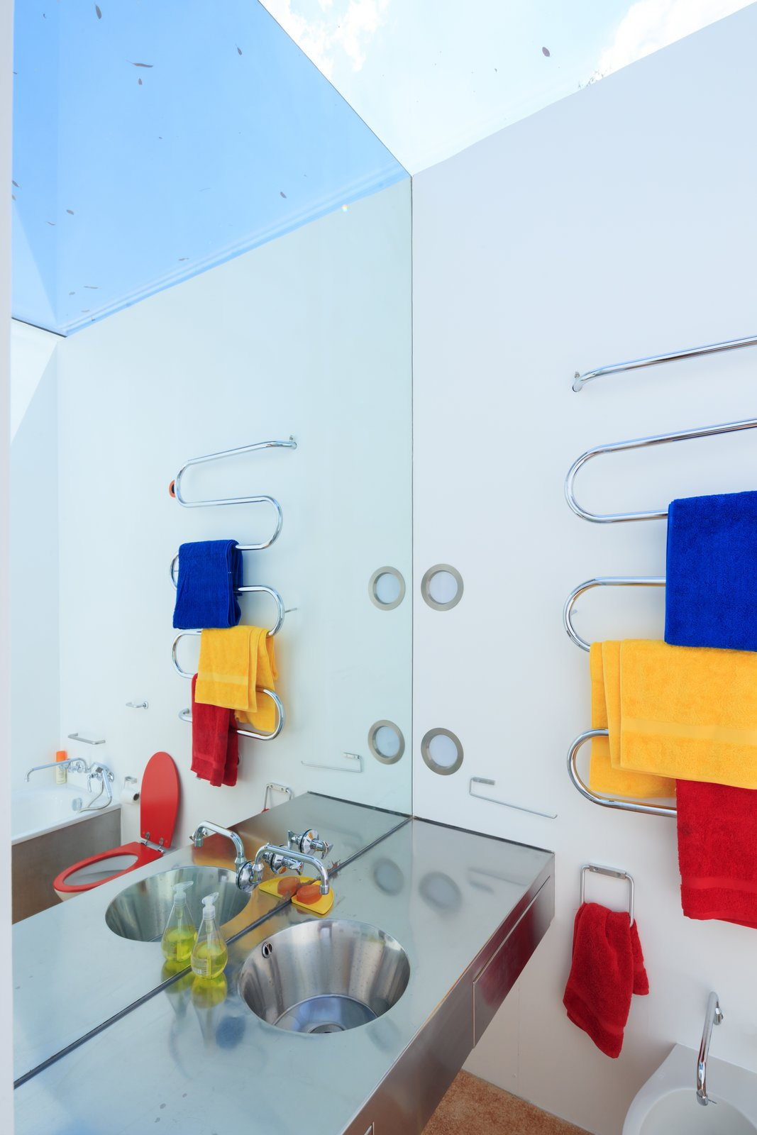 Bath Room  Photo 12 of 14 in Fully Renovated, Wimbledon House by Richard Rogers Hosts New Architecture Fellows in London