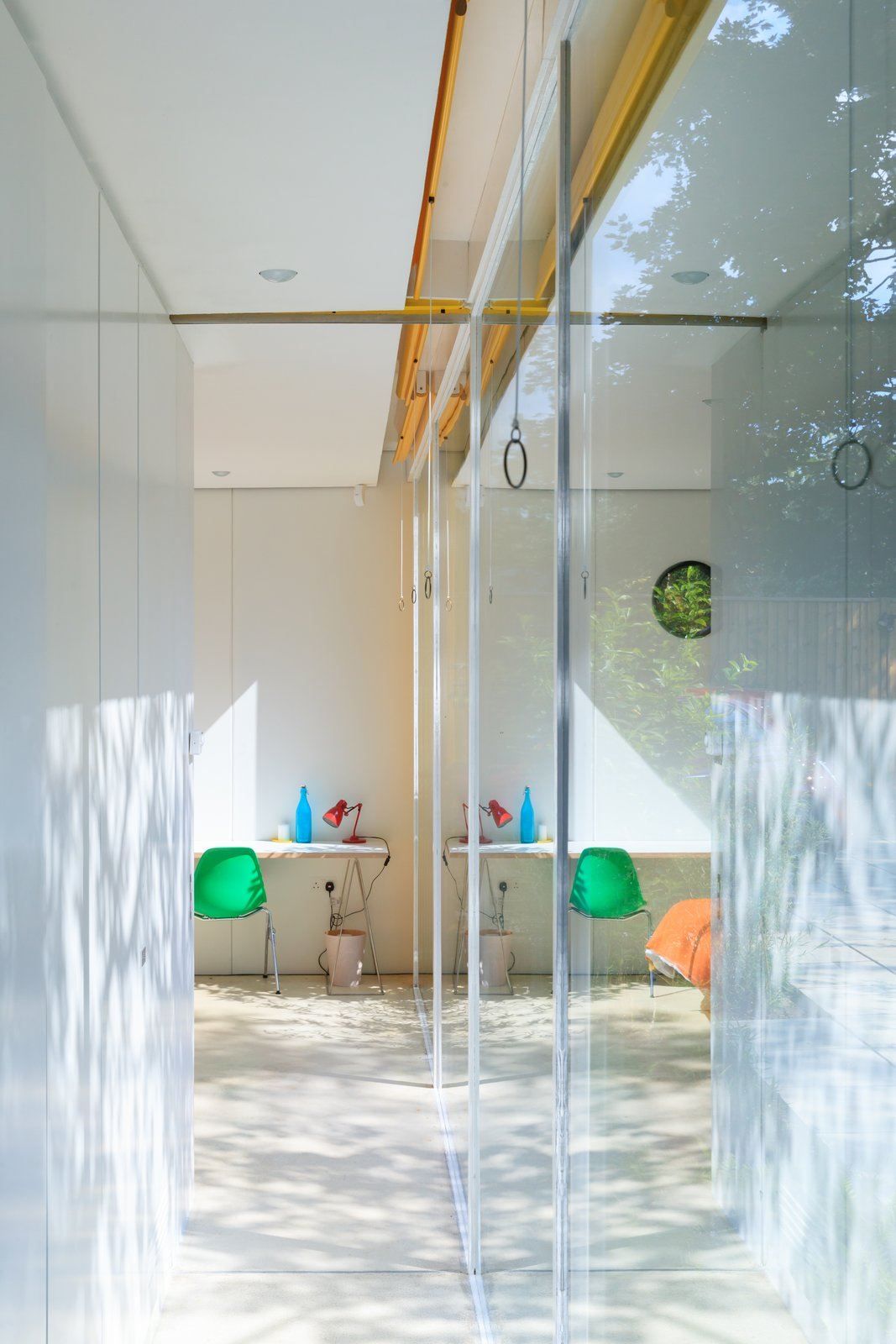 Hallway  Photo 5 of 14 in Fully Renovated, Wimbledon House by Richard Rogers Hosts New Architecture Fellows in London
