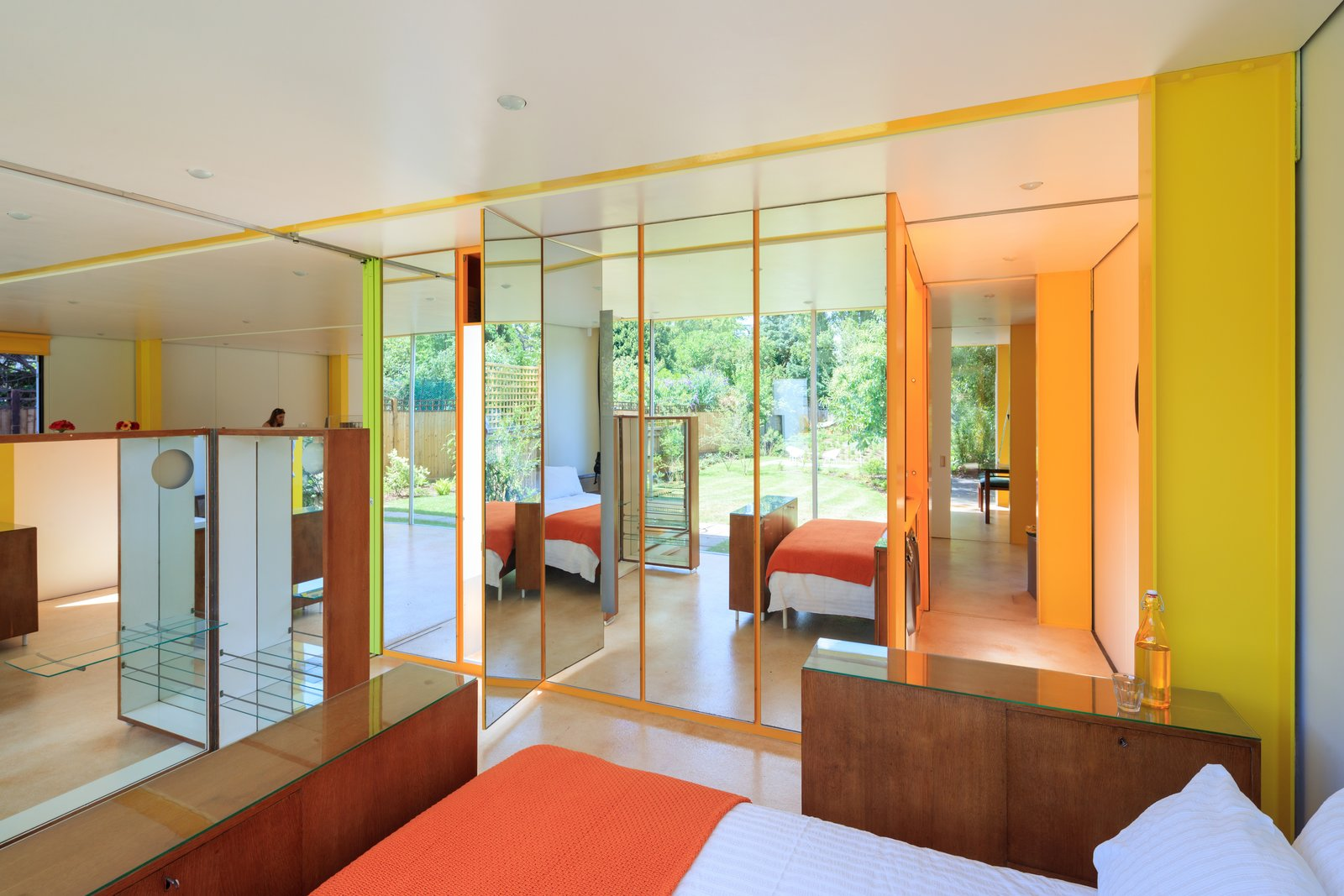Bedroom and Bed  Photo 2 of 14 in Fully Renovated, Wimbledon House by Richard Rogers Hosts New Architecture Fellows in London