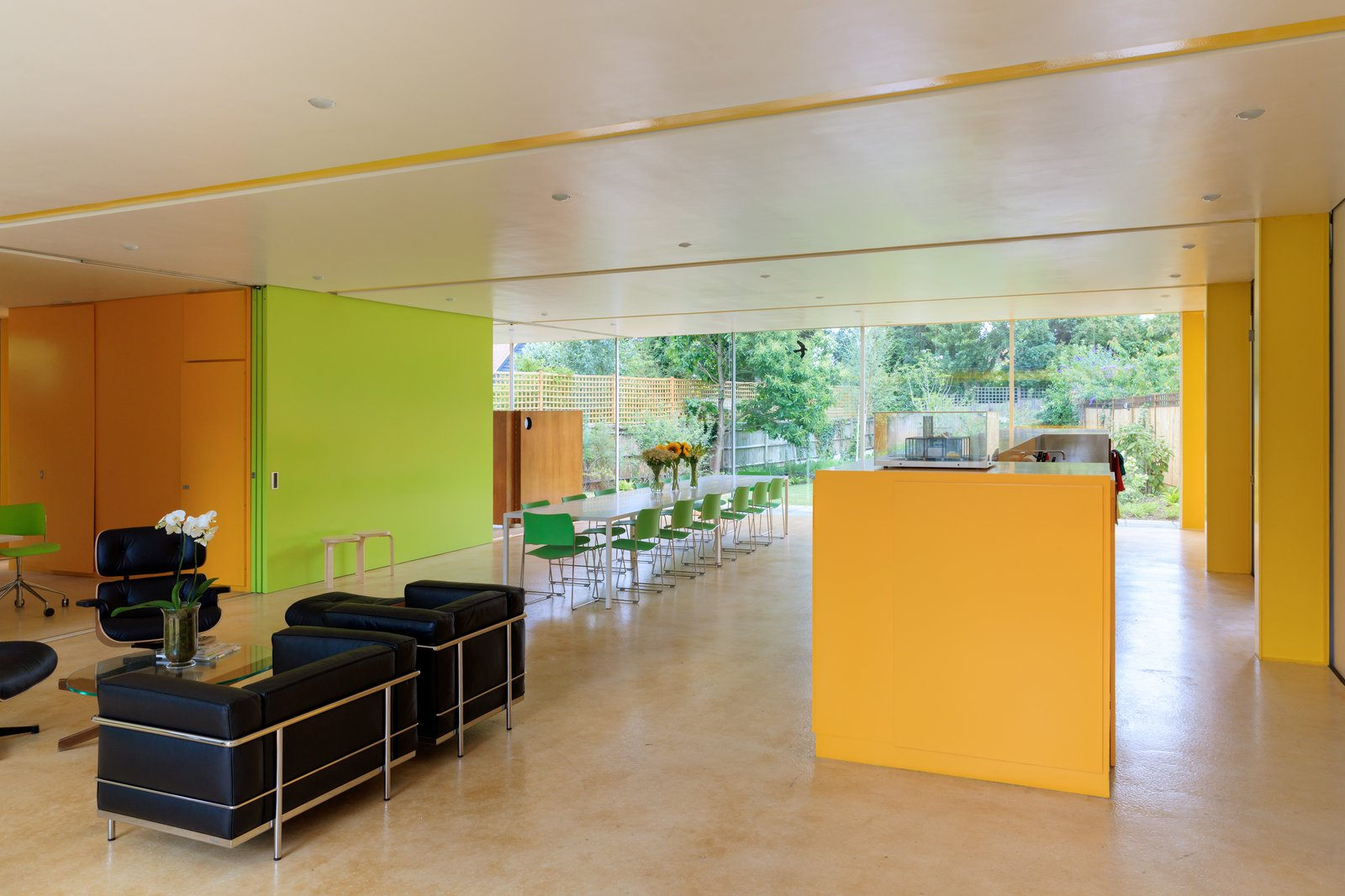 Dining Room, Table, and Chair  Photo 7 of 14 in Fully Renovated, Wimbledon House by Richard Rogers Hosts New Architecture Fellows in London