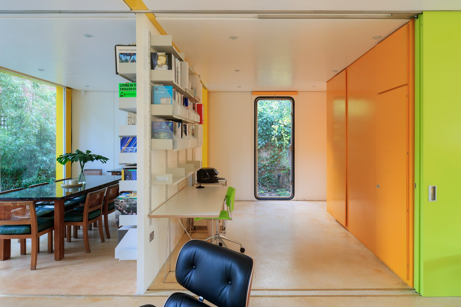 Office and Library Room Type  Photo 3 of 14 in Fully Renovated, Wimbledon House by Richard Rogers Hosts New Architecture Fellows in London