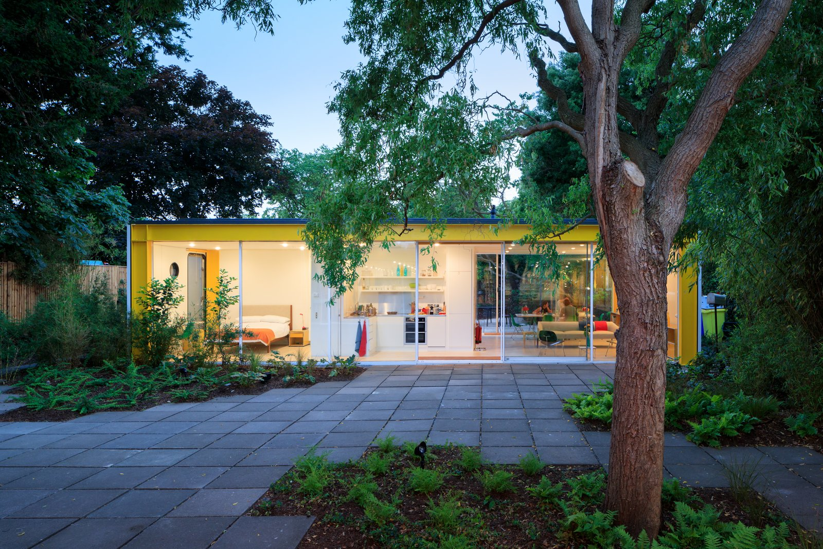 Exterior, House Building Type, Flat RoofLine, and Mid-Century Building Type  Photo 1 of 14 in Fully Renovated, Wimbledon House by Richard Rogers Hosts New Architecture Fellows in London