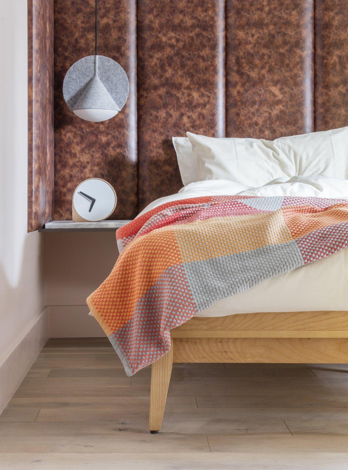 Bedroom, Medium Hardwood Floor, Bed, and Pendant Lighting  Photo 4 of 12 in Part Apartment, Part Boutique Hotel, Eden Locke Brings a New Brand of Comfort to Edinburgh