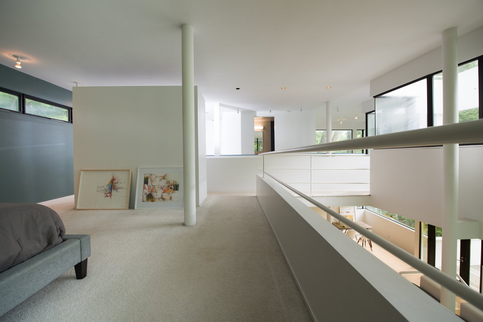 Bedroom, Recessed Lighting, and Carpet Floor  Photo 8 of 12 in At $265K, Michael Graves's First Commission Is a Bargain
