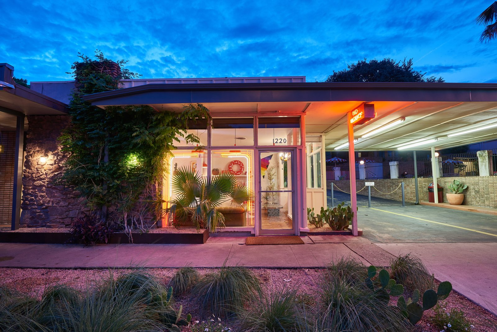 Exterior  Photo 13 of 13 in The Rejuvenated Austin Motel Welcomes Guests With Upbeat, Midcentury-Modern Vibes