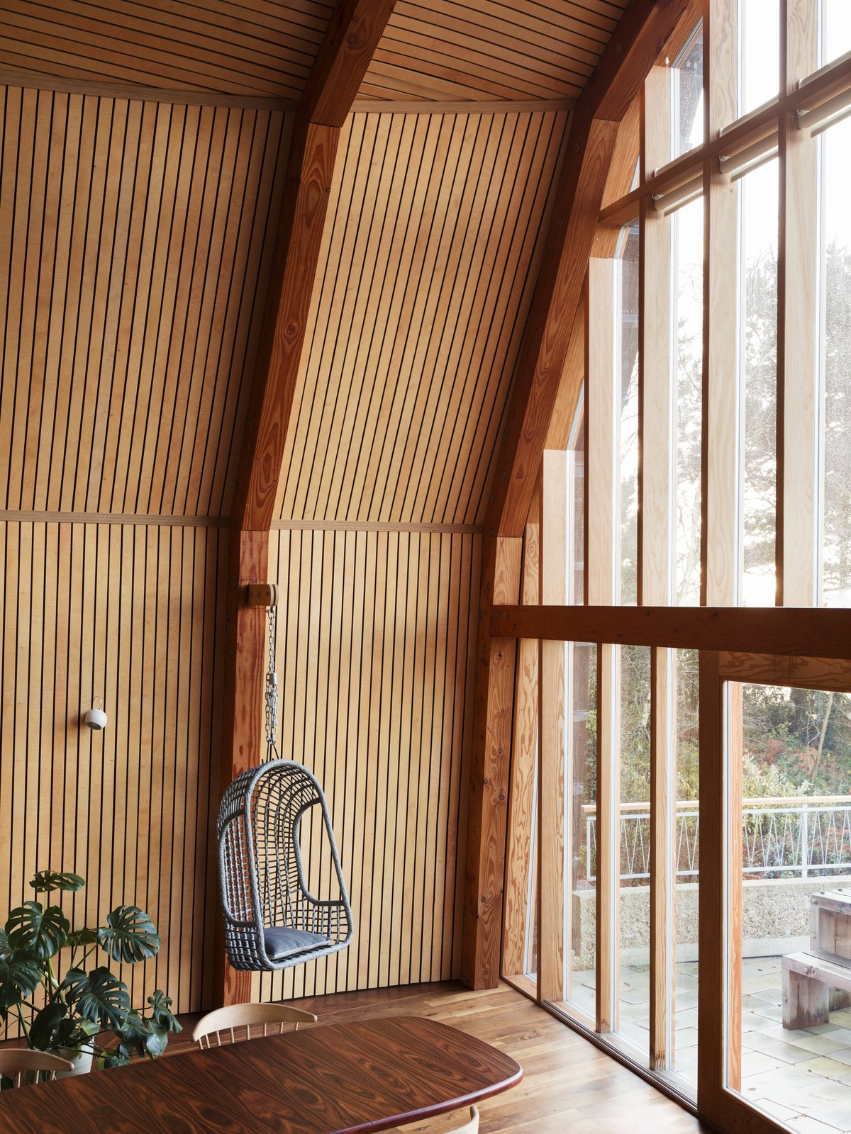 Windows and Picture Window Type  The Boathouse from Resembling the Inverted Hull of a Ship, an English Guest House Pays Homage to the Harbor