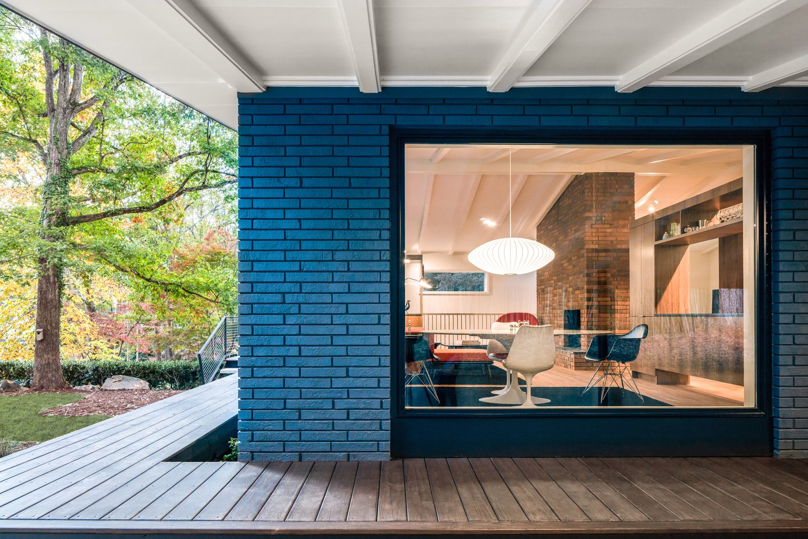 Photo 4 of 14 in Elegantly Renovated, a Midcentury Home in Raleigh Asks $975K