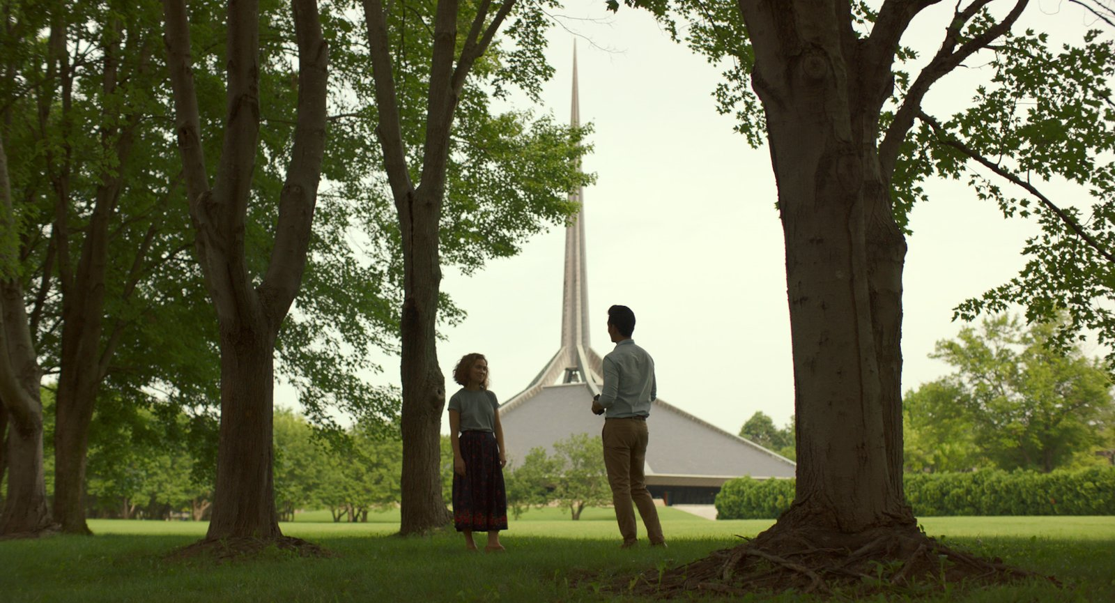 "Photo 1 of 8 in In the Indie Debut ""Columbus,"" Midcentury Architecture Stars Beside John Cho"
