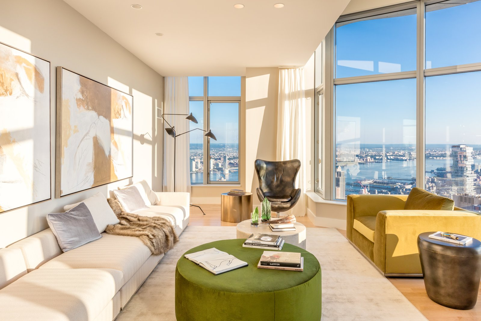 Photo 1 of 9 in Tour This Frank Gehry-Designed Penthouse in NYC That's Back on the Market