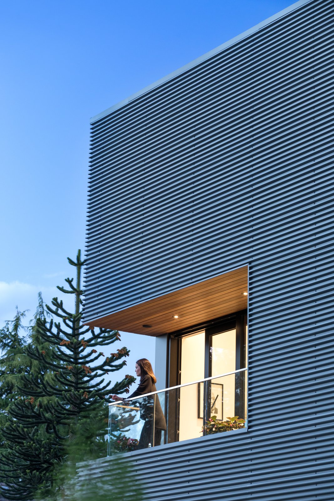 Exterior, House Building Type, and Metal Siding Material  Photo 12 of 12 in Wrapped in Galvanized Steel, 'Cube House' in Vancouver Asks $12.8M