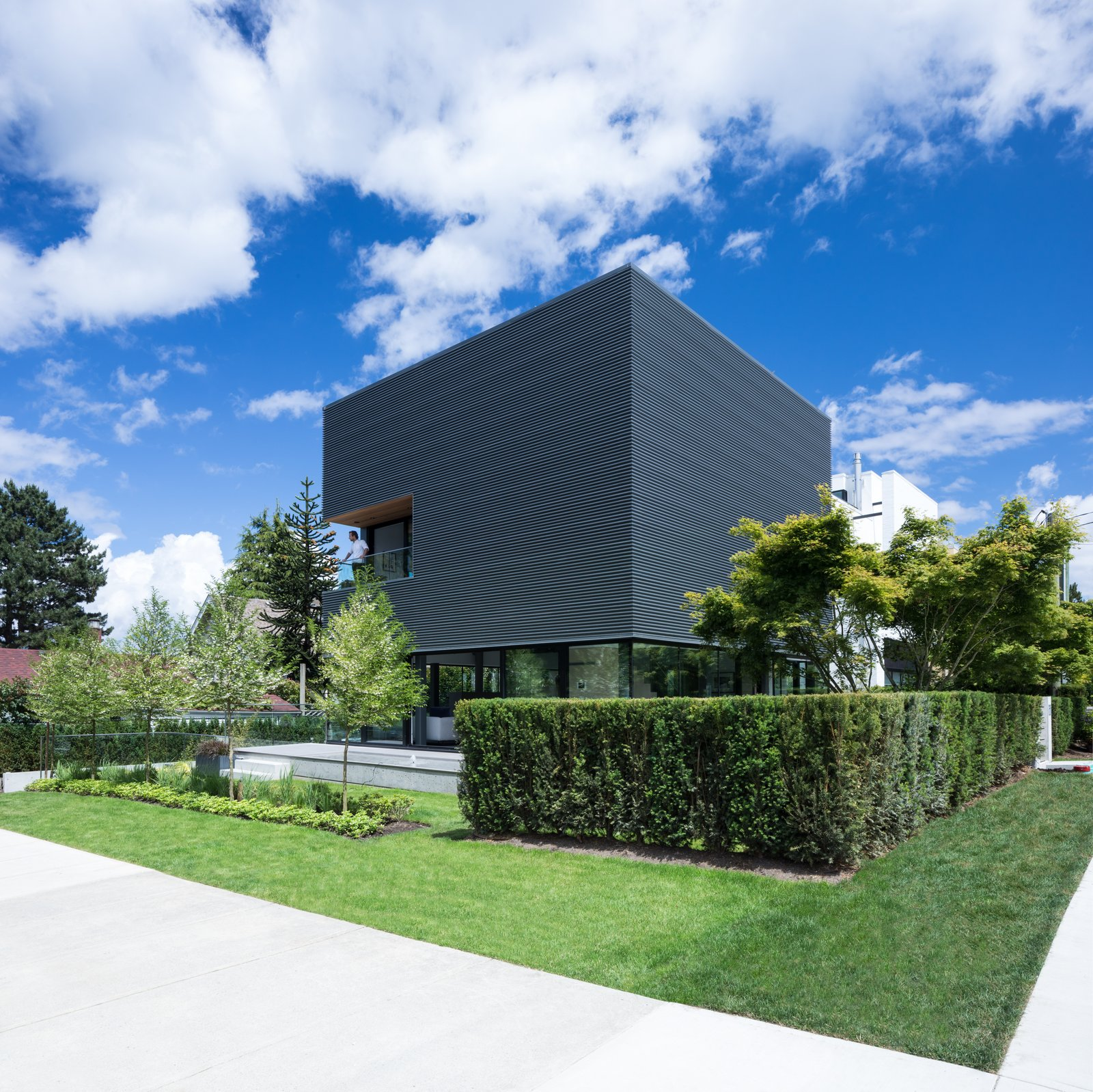 Exterior, House Building Type, and Metal Siding Material  Photo 1 of 12 in Wrapped in Galvanized Steel, 'Cube House' in Vancouver Asks $12.8M