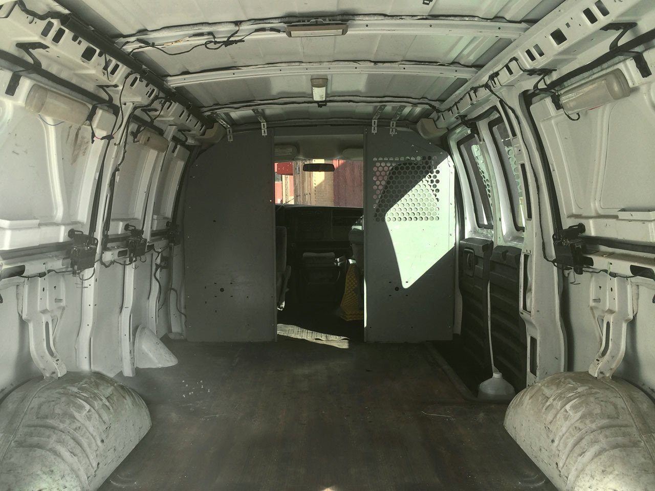Before  Photo 15 of 15 in A Used Cargo Van Becomes a Mobile Studio