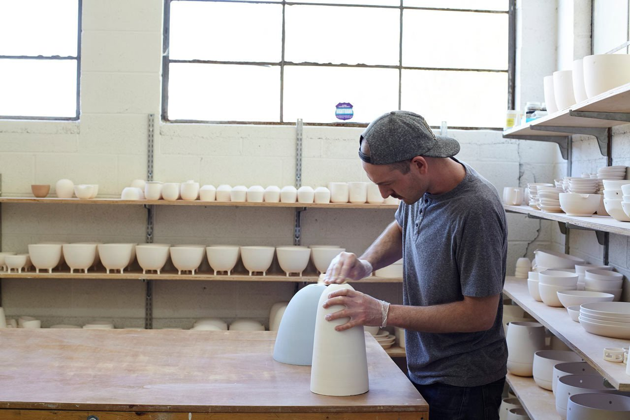 Photo 9 of 25 in How Pigeon Toe's Hazel Pendants Are Made